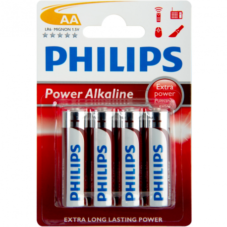 Baterie Philips Power Alkaline 1,5V (AA) - 4 KS