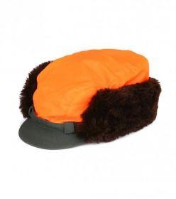 Čepice Twill s pravou kožešinou - převlek