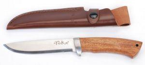 Lovecký nůž, rukojeť tropické dřevo Cocobolo 13 cm Tekut