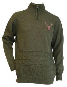 Lovecký svetr s jelenem - DOPRODEJ