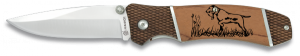 Lovecký nůž skládací s motivem psa