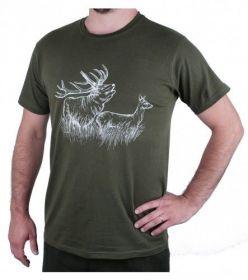 Myslivecké tričko jelen a laň