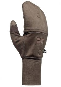 Hillman Windproof flap gloves lovecké rukavice s klopou - dub